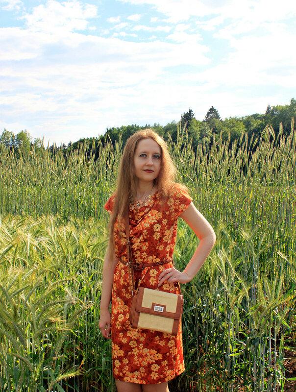 платье - Ostin, сумка - New Yorker, сандалии - Bershka