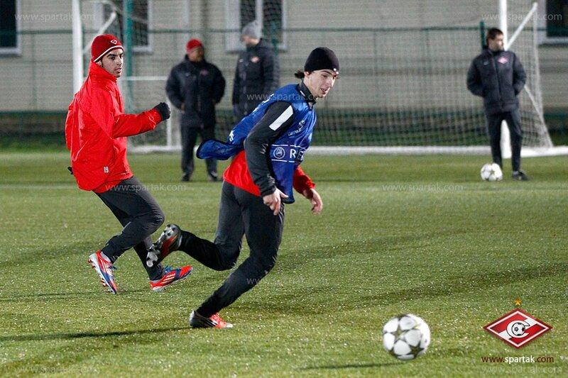 Тренировка «Спартака» в Тарасовке перед матчем с «Барселоной» (Фото)