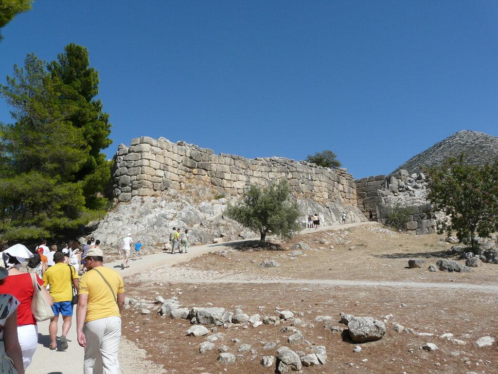 Развалины микенского акрополя