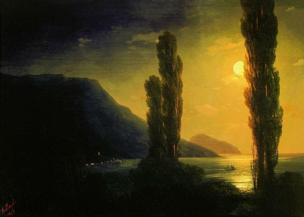 Лунная ночь. Окрестности Ялты. 1863.jpg