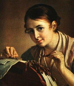 Кружевница. Фрагмент. 1823.jpg
