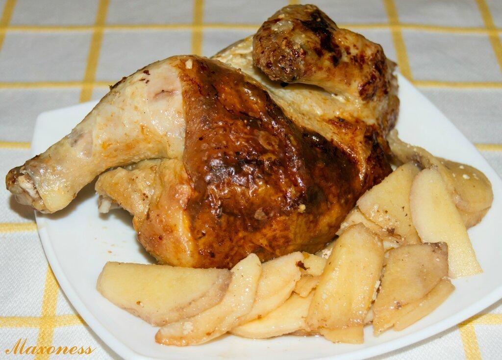 Товук дим-дим (курица, фаршированная айвой). Узбекская кухня
