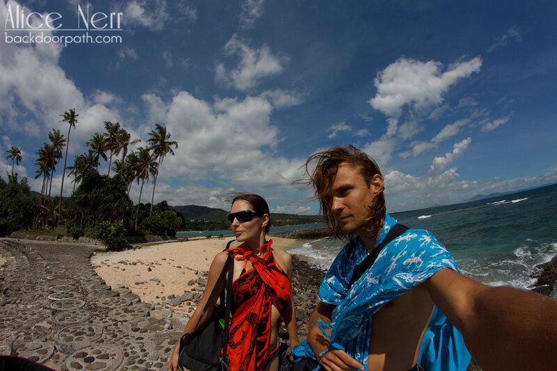 Пляж в Сенгиги, остров Ломбок, Индонезия
