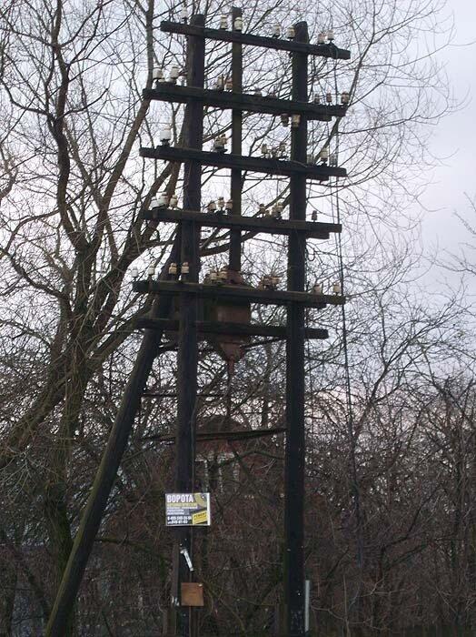 телеграфный столб в Жаворонках