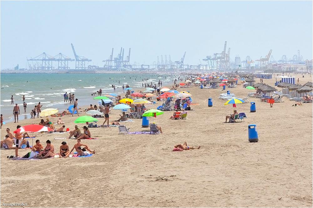 Пляж Мальвароса Валенсия