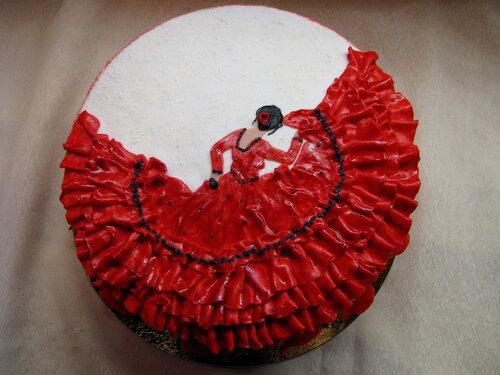 "Торт ""Танцовщица фламенко"""