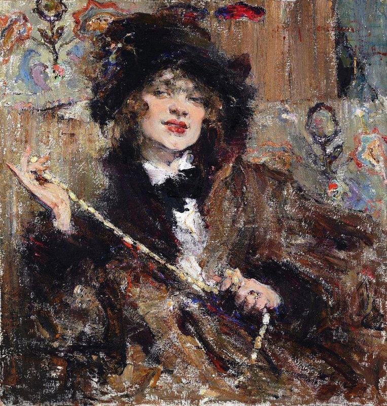 Николай Фешин. Портрет мадемуазель Подбельской. 1912 год.