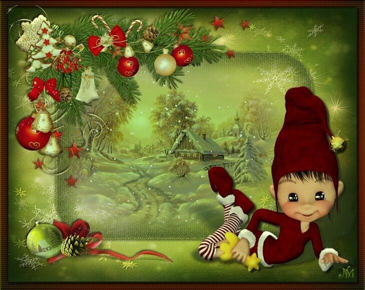 Картинки анимация дети новый год