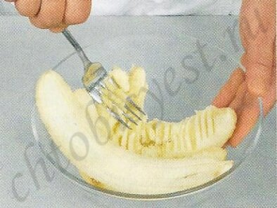 ананас с банановым кремом