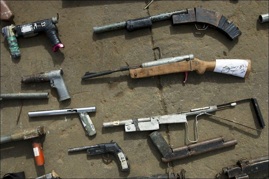 Уничтожение нелегального оружия