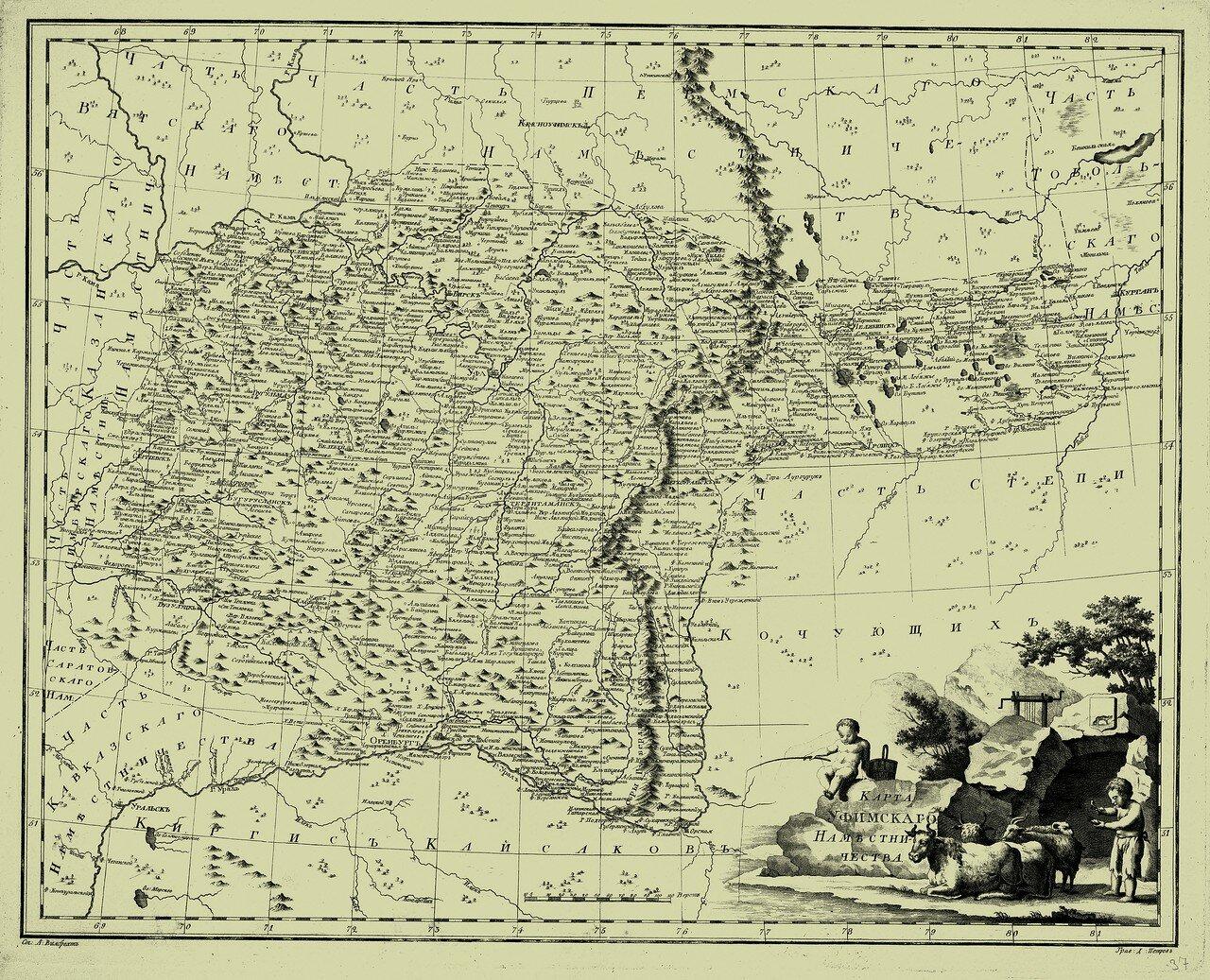 37. Карта Уфимского наместничества