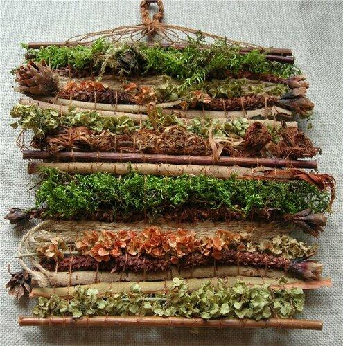 Ткачество на бердышке гобелена из целебных трав - Тридевятое Царство
