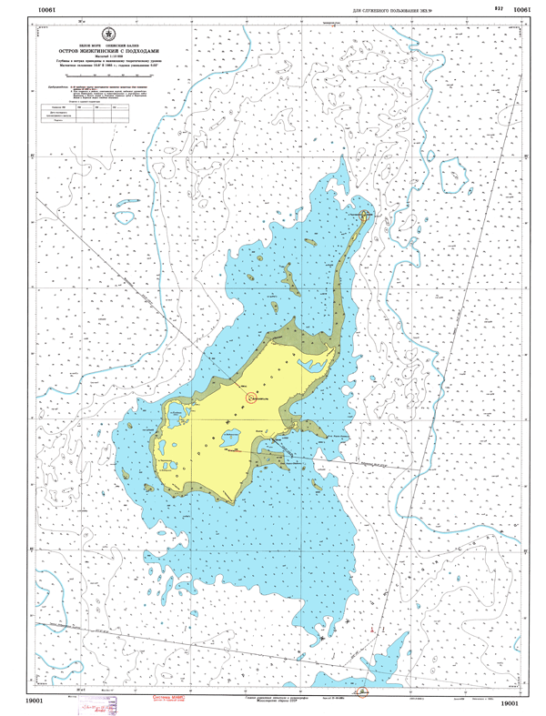 Остров Жижгинский с подходами - морские навигационные карты на lenv.ru