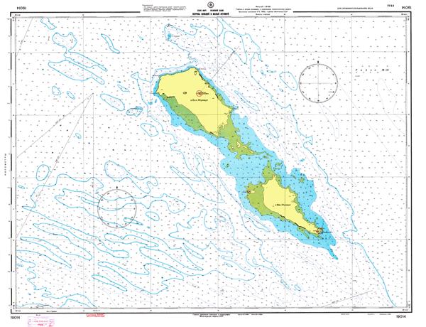 Острова Большой и Малый Жужмуй - морские навигационные карты на lenv.ru