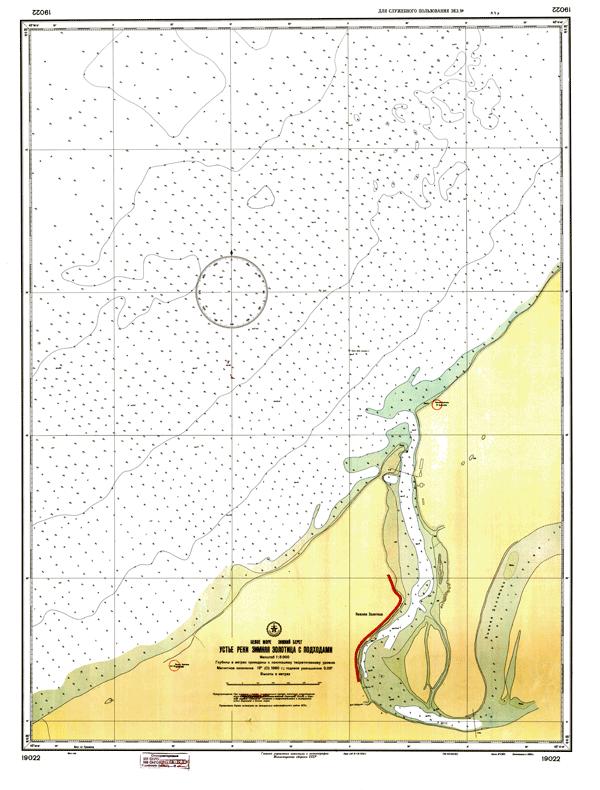 Устье реки Зимняя Золотица с подходами - морские навигационные карты на lenv.ru