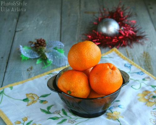 Рождественский кекс с мандаринами