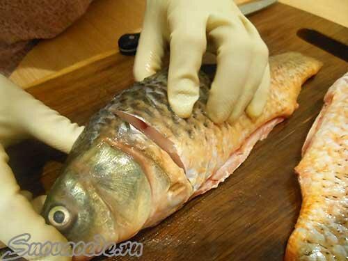 разделка рыбы