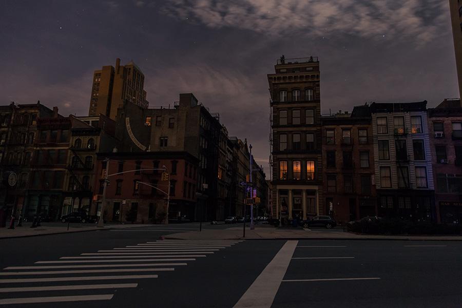 Обесточенная нижняя часть Манхэттена