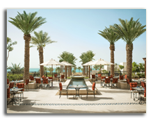 ОАЭ. Абу Даби. The St. Regis Saadiyat Island Resort Abu Dhabi. Olea Restaurant - Terrace