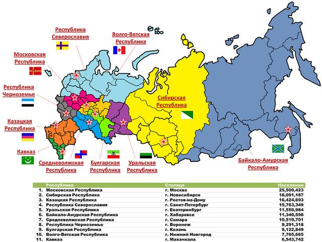 Вариант деления России