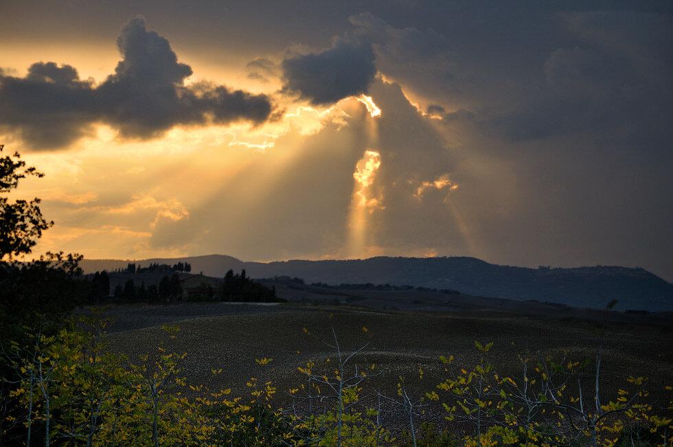 По дороге в Баньо Виньони Тоскана