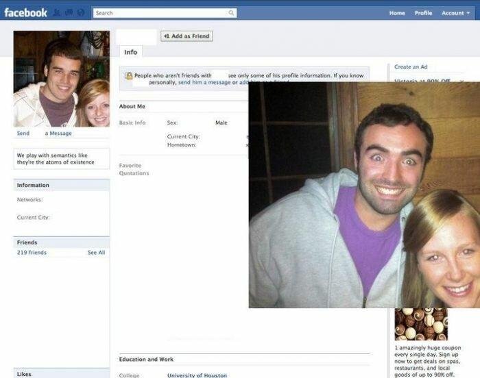 Прикольный способ предложить дружбу тезкам на Фейсбуке