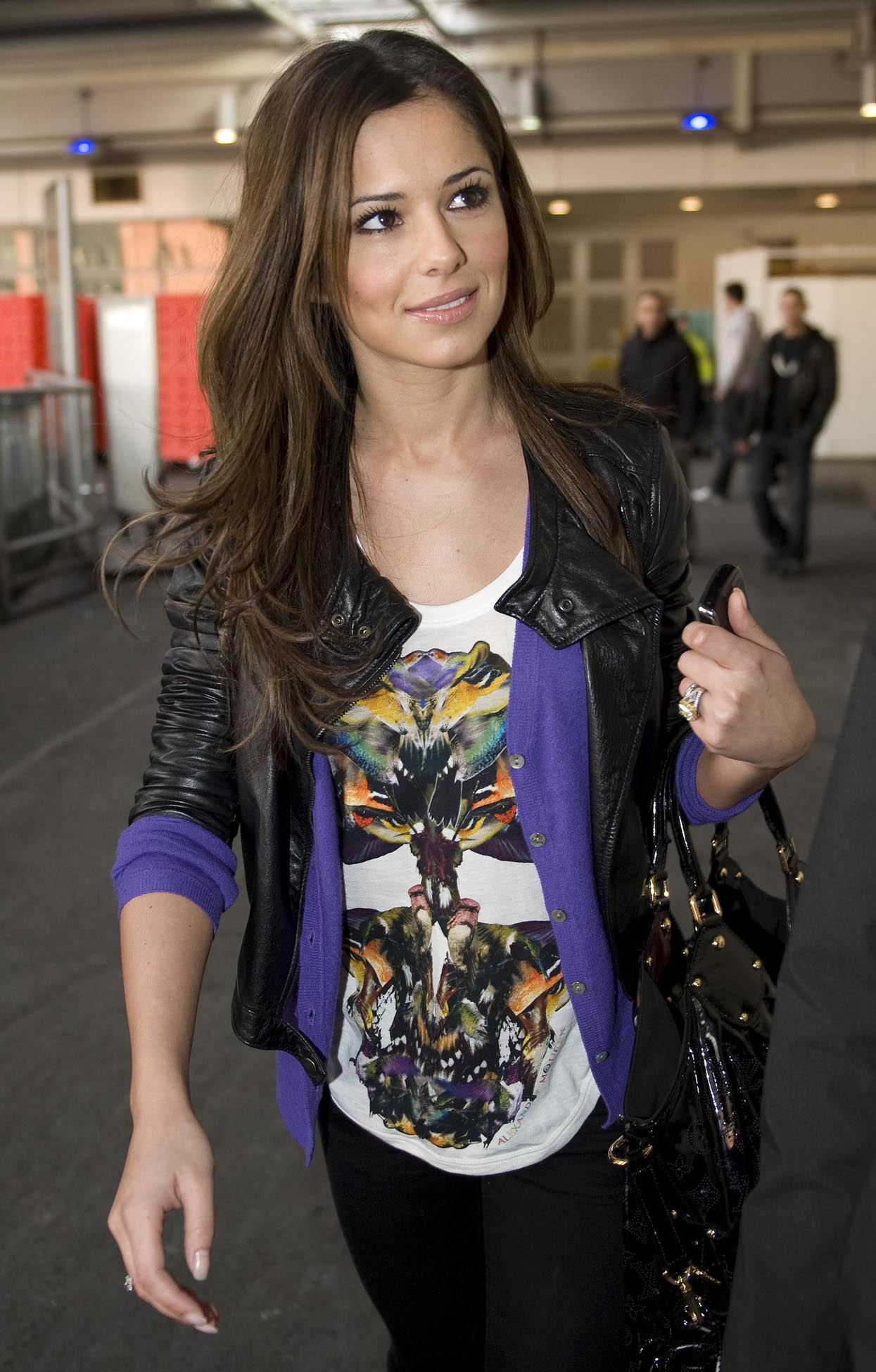 Cheryl Cole Arriving At Heathrow Airport (USA AND OZ ONLY)