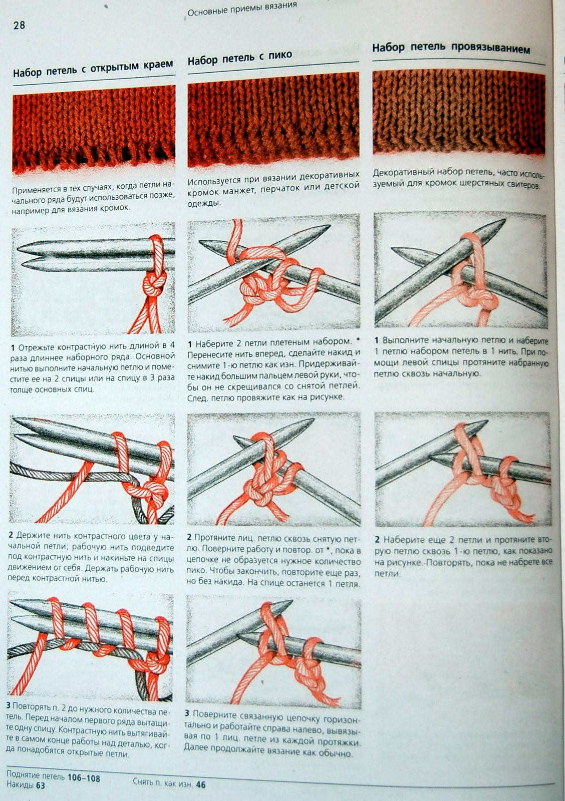 Что значит перенести маркер в вязании