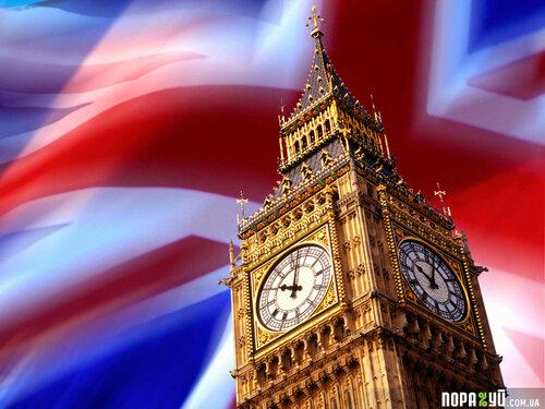 Big Ben and British Flag