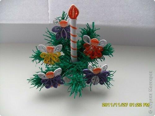 Поделка на рождество из гофрированной бумаги