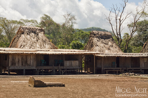 найди десять различий, дома в деревне Вого, Флорес, Индонезия