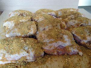Курица на Гриле в Нектаре Гуавы. Мясо с приправами