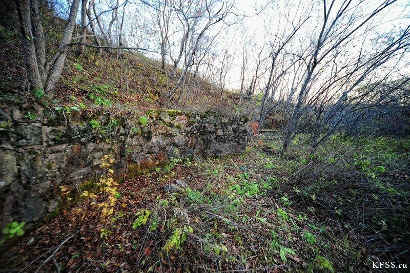 Форт №12 Владивостокской крепости kfss фундамент непостроеной казармы