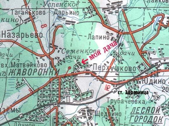 село Перхушково карта