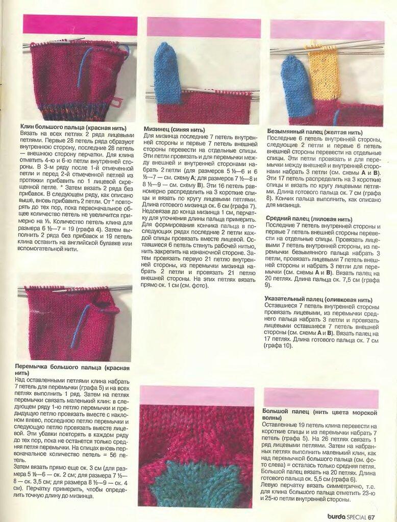 Вязание детских перчаток спицами с описанием 7