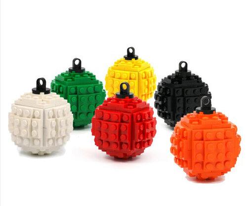 Новогодние шары из лего