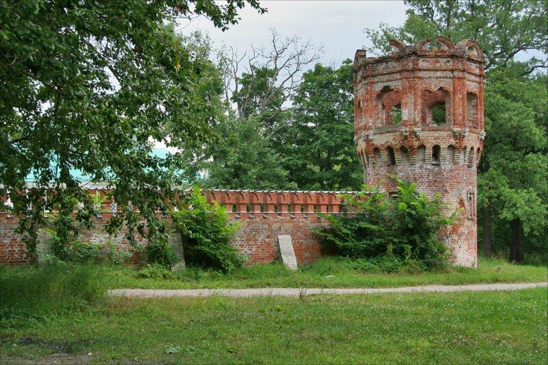 Федоровский городок, стены и башни, Царское Село