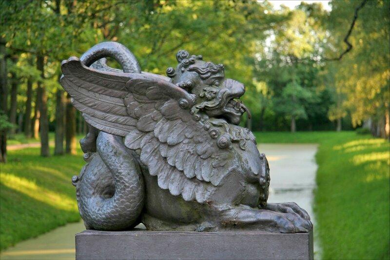Драконов мост в Новом саду Александровского парка