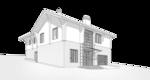 Крыльцо, проект жилого дома 350кв.м. в швейцарском стиле, перспективный вид.