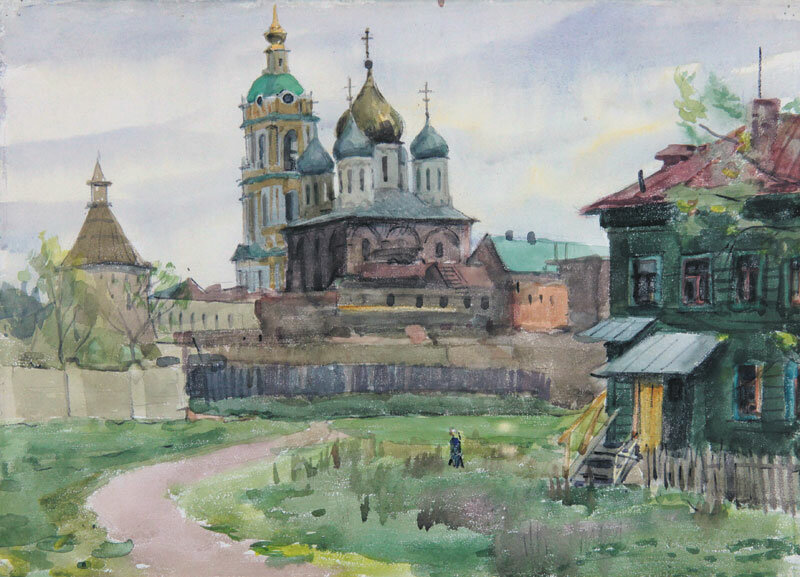 Соломон Боим. НовоСпасский монастырь, 1969.