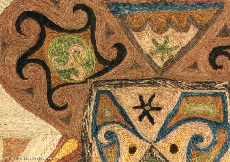 Кайтагская вышивка. Фрагмент