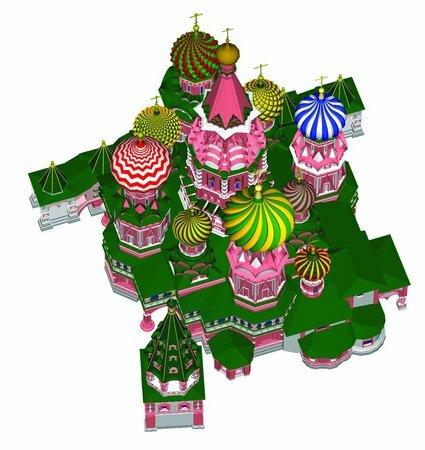 Купола-луковицы храма Василия