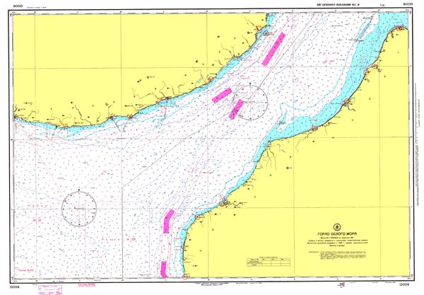 Горло Белого моря - морские навигационные карты на lenv.ru