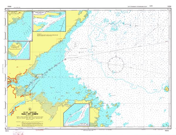 Подходы к порту Беломорск - морские навигационные карты на lenv.ru