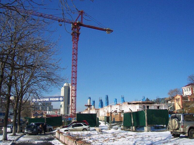 Строительство храма на центральной площади. 21-ноября-2012г