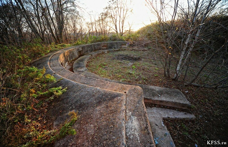 Форт №12 Владивостокской крепости kfss правый барбет левого люнета