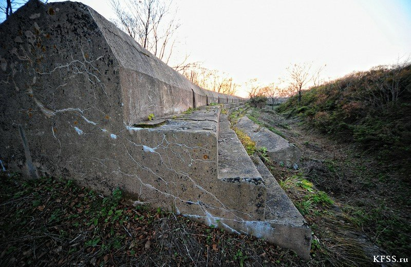 Форт №12 Владивостокской крепости kfss бруствер