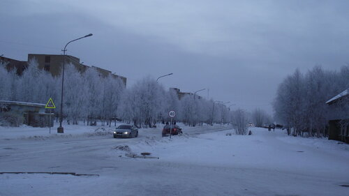 Фото города Инта №2200  Мира 24б и 22а (мороз -15 и небольшой туман) 26.11.2012_13:31