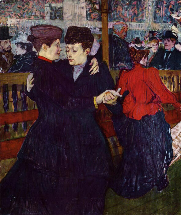 At The Moulin Rouge - The Two Waltzers, Henri de Toulouse-Lautrec, 1892