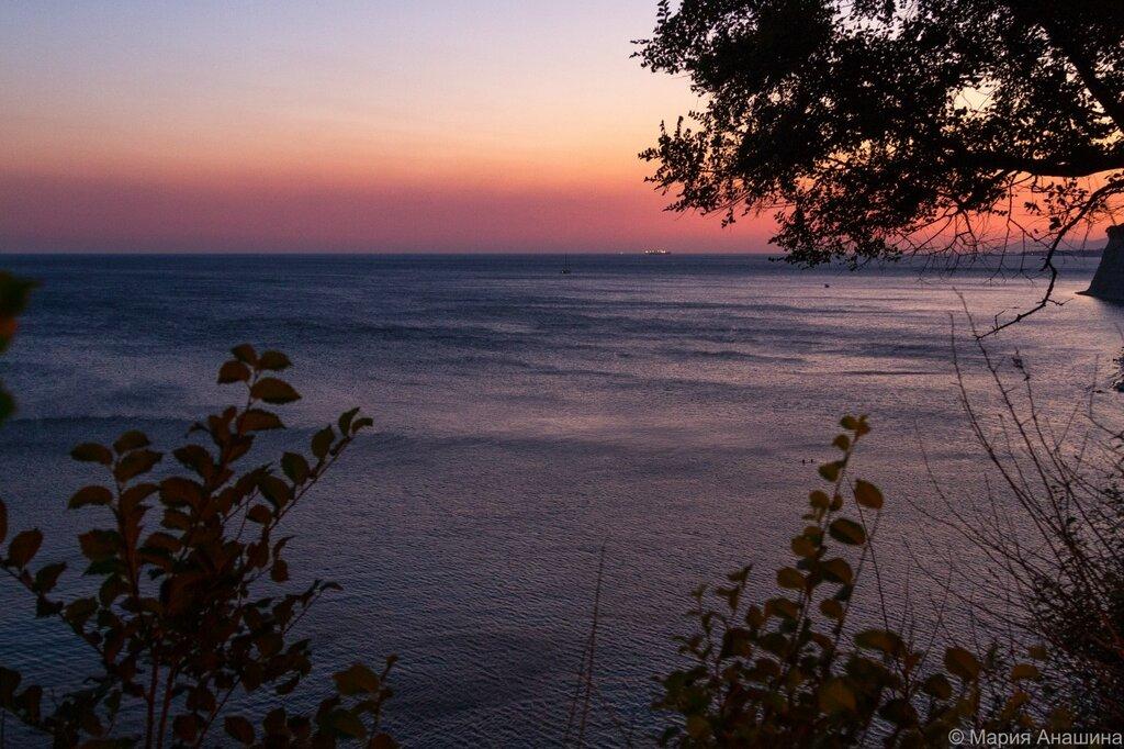 Черное море, закат